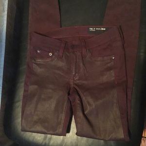 Rag & Bone burgundy pants